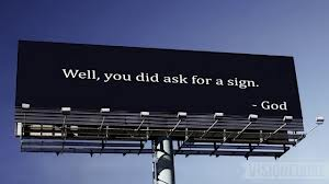 sign from God